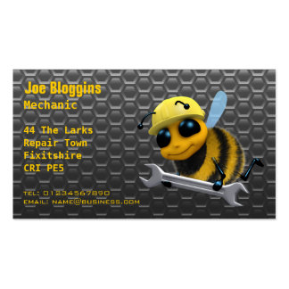 Mechanic, repair and servicing business card templates