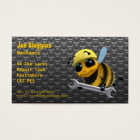 Mechanic, repair and servicing business card