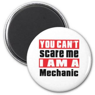 Mechanic scare designs 6 cm round magnet