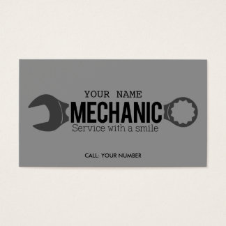Mechanic - Service with a smile Business Card