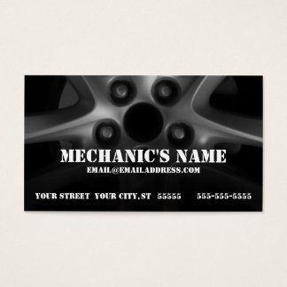 Mechanic Tire Rim Business Card