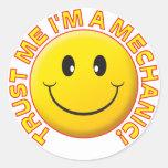 Mechanic Trust Me Round Sticker