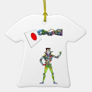 Mechanical Arm Flag of Japan Ceramic T-Shirt Decoration