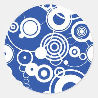 Mechanical circles pattern sticker