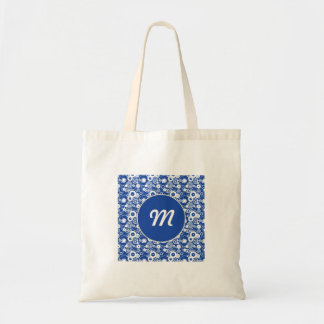Mechanical circles pattern tote bag
