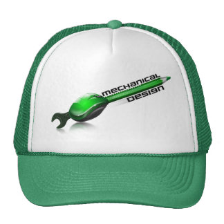 Mechanical design trucker hat