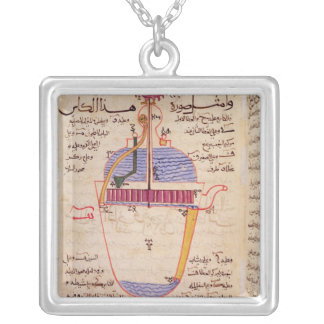 Mechanical device for pouring water necklace
