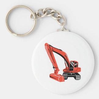 mechanical digger construction excavator key ring