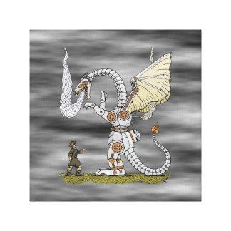 Mechanical Dragon Canvas Print