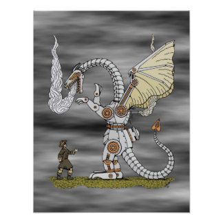 Mechanical Dragon Poster