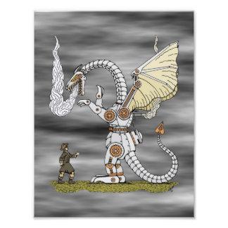 Mechanical Dragon Print Photo Art