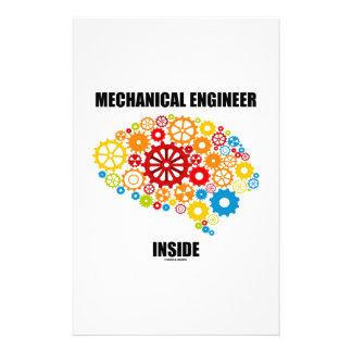 Mechanical Engineer Inside (Gears Brain) Stationery Design
