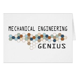 Mechanical Engineering Genius Card