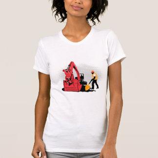 mechanical excavator digger construction worker shirt