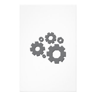 Mechanical Gears Stationery Paper
