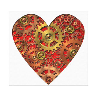 Mechanical Heart Gallery Wrapped Canvas