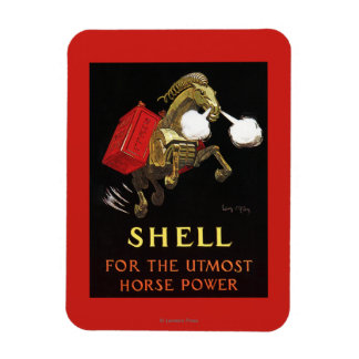 Mechanical Horse with Shell Oil Rectangular Photo Magnet
