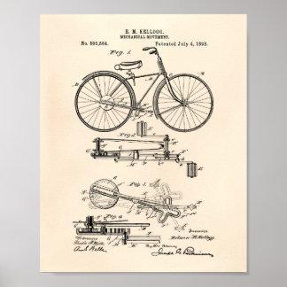 Mechanical Movement 1893 Patent Art Old Peper Poster
