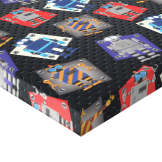 Mechanical Robot Cartoon Gallery Wrap Canvas