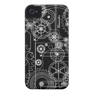 Mechanical Steam Punk Gears iPhone 4 Cases