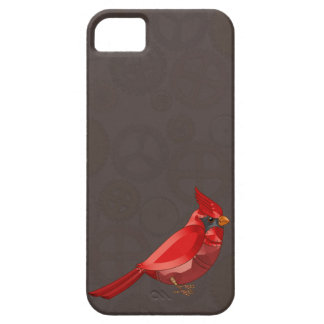 Mechanical Steampunk Cardinal in Faux Metallics Barely There iPhone 5 Case