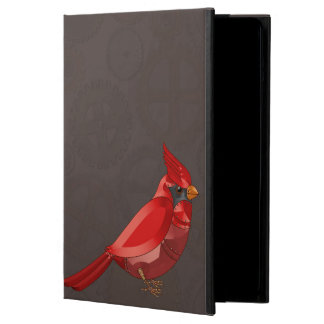Mechanical Steampunk Cardinal in Faux Metallics Cover For iPad Air
