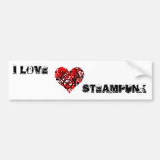 MECHANICAL STEAMPUNK HEART BUMPER STICKER