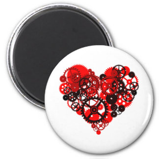MECHANICAL STEAMPUNK HEART MAGNET