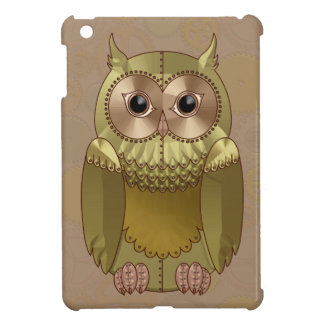 Mechanical Steampunk Owl in Faux Metallic Colors iPad Mini Cover