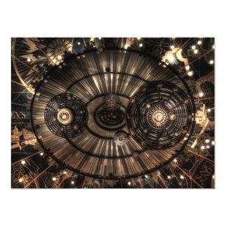 Mechanical Steampunk Zodiac Constellations 17 Cm X 22 Cm Invitation Card