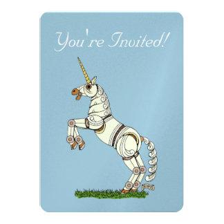 Mechanical Unicorn Invitation