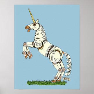 Mechanical Unicorn Poster