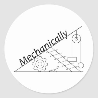 Mechanically Inclined Classic Round Sticker