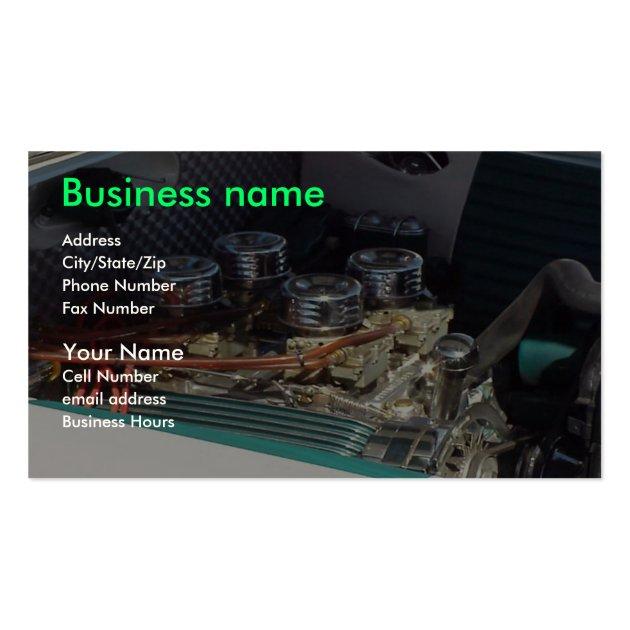 mechanics business card template