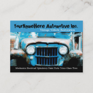 Mechanic shop business cards business card printing zazzle uk mechanics repair shop with closeup wreck car business card colourmoves