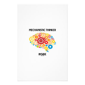 Mechanistic Thinker Inside (Brain Gears) Stationery Paper