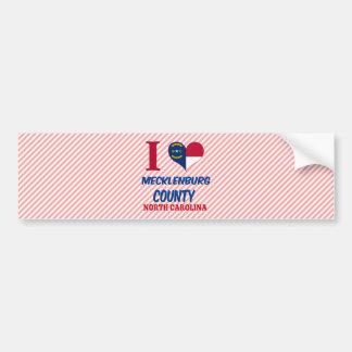 Mecklenburg County, North Carolina Bumper Sticker