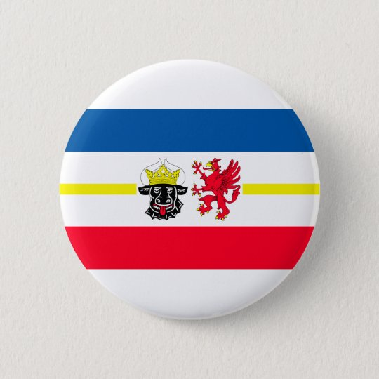 Mecklenburg-Western Pomerania flag 6 Cm Round Badge