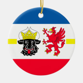 Mecklenburg-Western Pomerania flag Christmas Ornament