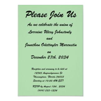 med green DIY custom background template 13 Cm X 18 Cm Invitation Card