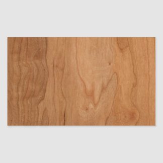Med-Lt Wood Grain Rectangular Sticker