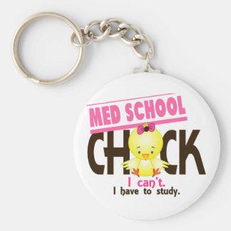 Med School Chick 1 Key Chain