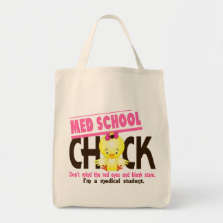 Med School Chick 2 Grocery Tote Bag