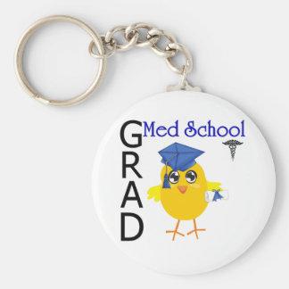 Med School Grad Basic Round Button Key Ring