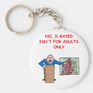 med school joke key chains