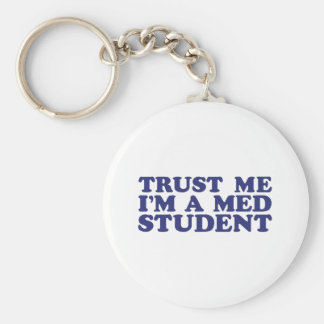 Med Student Basic Round Button Key Ring
