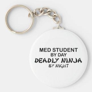 Med Student Deadly Ninja Basic Round Button Key Ring