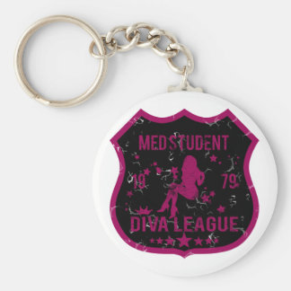 Med Student Diva League Basic Round Button Key Ring