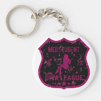 Med Student Diva League Key Ring
