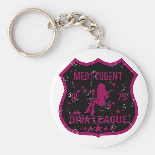 Med Student Diva League Key Chain